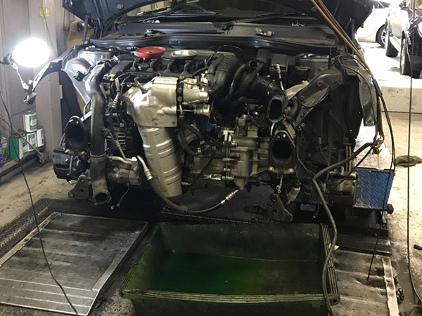 BMW MINICooperS(R56)エンジンオイル漏れ修理